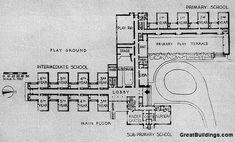 elementary school building design plans | Artist/Designer: Perkins, Wheeler & Will with Eliel and Eero Saarinen