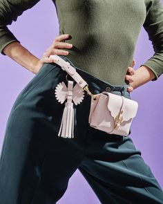 Bag with can be worn around the waist or on the shoulder. Material: calf leather/ gold plated brasse buckle closure/ golden hardware Dimension: 14 x 10 x 3 cm Leather Bag Pattern, I Love Fashion, Leather Craft, Calf Leather, Bucket Bag, Calves, Fashion Brands, Feminine, Outfits