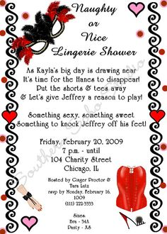 lingerie shower invite wording - haha I have never ever heard of this, but could definitely be fun as part of the bachlorette party Lingerie Shower Invitations, Bridal Shower Invitation Wording, Bridal Lingerie Shower, My Bridal Shower, Lingerie Party, Best Lingerie, Wedding Lingerie, Invitation Set, Bridal Shower Invitations