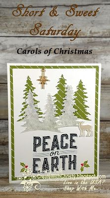 Complete Instructions included in post - Stampin' Up! Carols of Christmas handmade Christmas Card - S&SS - Create With Christy - Christy Fulk, Independent SU! Demo