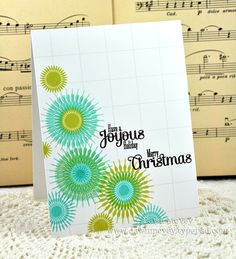 Joyous Holiday Card by Dawn McVey for Papertrey Ink (October 2012)
