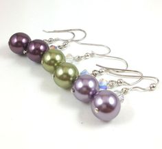 Pearl Earrings Made With Swarovski Elements by LittleBoxOfCrystals