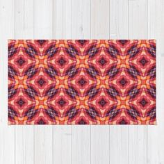 Geometric Flowers Pattern Art Print by Jude's. Worldwide shipping available at Society6.com. Just one of millions of high quality products available.