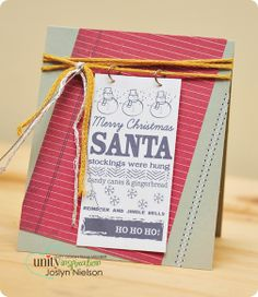 Unity Stamp Co. - Design Team Member - @Joslyn Nielson - Using Wit & Wisdom by Joslyn - {Santa, Stockings and Candy Cane} http://www.unitystampco.com