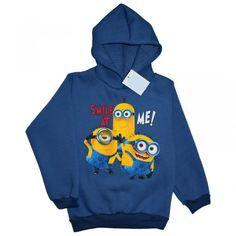 BLUZA MINIONKI - POLSKA 116 niebieski cieplutka Hoodies, Sweatshirts, Data, Fashion, Moda, Fashion Styles, Parka, Trainers, Sweatshirt