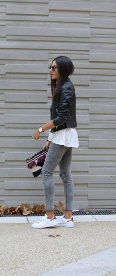 Look com tenis, sporty chic style, sporty chic outfits, 30 outfits, casual 30 Outfits, Mode Outfits, Jean Outfits, Fall Outfits, Casual Outfits, Sporty Chic Outfits, Clubbing Outfits, Dress Casual, Fashion Mode