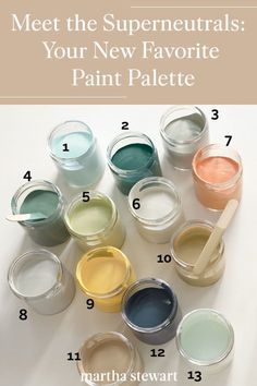 Pick the perfect neutral paint color palette for your home with one of our 18 go-with-everything classic-yet-modern nature-inspired hues plus project ideas for every room. Paint Color Palettes, Neutral Paint Colors, Best Paint Colors, Neutral Colour Palette, Paint Colors For Home, House Colors, Paint Colors For Furniture, Room Colors, Paint Schemes