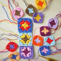 Mini colourful granny squares