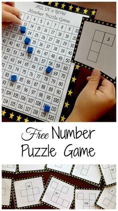 Need a game to familiarize students with a hundreds chart? Check out this game where children solve hundreds chart puzzles to win the game. There are also hundreds charts for the 100's, 200's, 300's, 400's, 500's, 600's, 700's, 800's and the 900's. Maths Guidés, Teaching Math, Math Fractions, Subitizing, Math Classroom, Multiplication, Number Puzzles, Math Numbers, Montessori Math