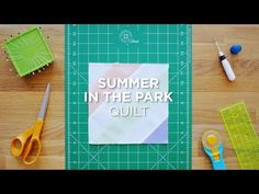 "Watch the full tutorial here: http://bit.ly/SummerInTheParkQS_YT A fast and simple way to create an exquisite quilt using 2.5"" strips. It is best to use contrasting prints/ colors."