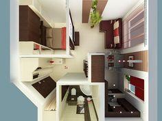TOP 10 małych mieszkań Corner Desk, Entryway, Loft, Bed, Furniture, Home Decor, Corner Table, Entrance, Decoration Home