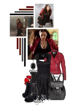 """""""Wanda Maximoff - Scarlet Witch - Marvel"""" by rubytyra ❤ liked on Polyvore featuring Quiksilver, Style & Co., Jozica, Jofama, KG Kurt Geiger, Alexander Wang and marvel"""