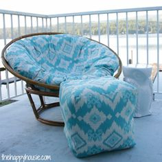 Genial How To Sew A DIY Papasan Chair Cover