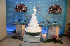 mesa de festa azul e rosa - Pesquisa Google