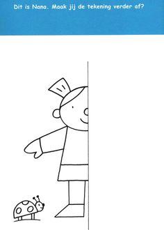 Werkblad visueel: spiegelen Pompom Art Drawings For Kids, Art For Kids, Summer Worksheets, Symmetry Design, Kindergarten, Hebrew School, Gross Motor Activities, Art N Craft, Math Classroom