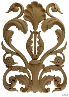 Acanthus & Leaves: Scroll Design - Ren. 18 1/2H X 14W - 5/8Relief