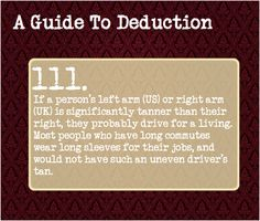 A Guide To Deduction — Suggested by: do-fish-have-fingers