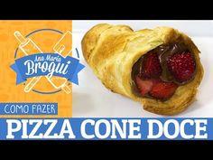 Aprenda a fazer pizza cone de morango com Nutella | Catraca Livre