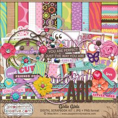 Girlie Girls by Featured Designer: Peppermint Creative,  just one of 4 amazing kits featured in the May 2014 Scrap Pack at Scrap Stacks! scrapstacks.com/scrappack