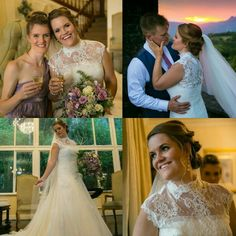 """""""A girls best accessory is her smile"""" - Real bride Sara Rickard wearing Faldeo by Pronovias. We have yet to see such a truly happy bride beaming! There is just so much of joy and celebration, not to mention bridal beauty."""