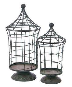 Look at this #zulilyfind! Wire Pedestal Display Set #zulilyfinds
