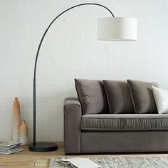 Overarching Floor Lamp - living room Antique Bronze #westelm