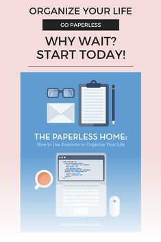 Struggling with paperwork or mail overwhelming you every day? Check out this great system using Evernote to create your paperless home #affiliatelink #evernote #paperless #gopaperless #organization #homeorganization #paperlesshome
