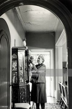 1950, English crime writer Agatha Christie at her home Winterbrook House, Wallingford, Berkshire, (now Oxfordshire)