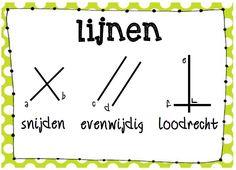 Poster wiskunde: soorten lijnen © Sarah Verhoeven Primary Maths, Primary School, Aperol, School Posters, Math Classroom, After School, Albert Einstein, Language, Teaching