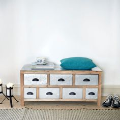 Kommode Butterfly Flach brown, furniture, silver