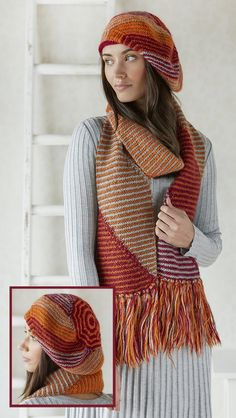 Hat, Scarf, and Mitt Sets Knitting Patterns - In the Loop Knitting Mens Scarf Knitting Pattern, Crochet Mens Scarf, Loom Knitting, Baby Knitting Patterns, Knit Crochet, Crochet Hats, Shawl Patterns, How To Purl Knit, Knitted Hats
