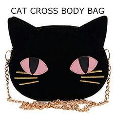 かわいい 黒猫 クロスボディバッグ skinnydip 海外ブランド コーデの画像 | 海外セレブ愛用 ファッション iphoneケース iphone6 6プ…