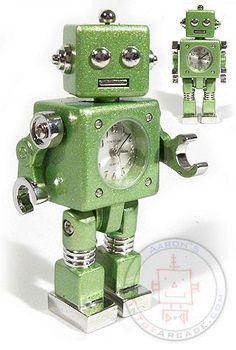 Tokibot Green Mini Robot Clock : Tokyobay Timepiece