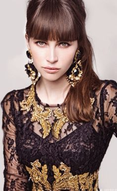♥ Lingerie as Outerwear. Black + Gold.