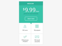pricing table design by Falcon White