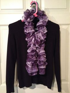 Shades of Purple Ruffle Scarf on Etsy, $20.00