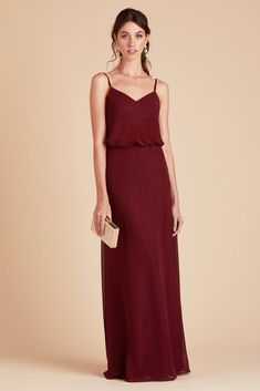 b52c9e5a4217 Birdy Grey Bridesmaid Dress Under  100 - Gwennie Dress - Pinot Noir -  Burgundy - Lightweight