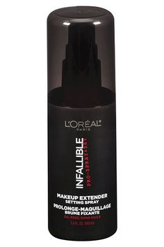 """""""It's amazing for hot, humid weather and particularly useful for oilier skins. It also helps powder settle into the skin, making your makeup look more natural.""""  L'Oreal Paris Makeup Extender Setting Spray, $13.99, available at Target."""