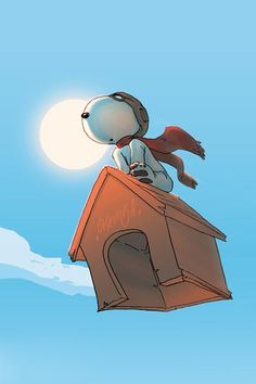 Snoopy always wanted to fly and he knew that with God all things are possible to those who believe.!