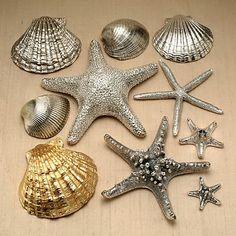 Natúr kagyló és csigahéj ezüst köntösben DIY