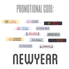 promo code newyear gives you 10 off on 12 personalized clothing labels insert at checkout luckylabelcom