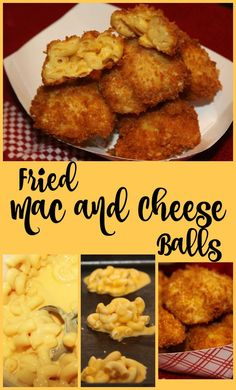 Fried Mac and Cheese Balls - a tasty appetizer made with just 4 ingredients!