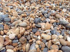 Beautiful pebbles on Brighton beach