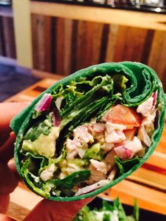House Made Caesar Dressing With Organic Eggs & Organic Extra Virgin Olive Oil Base!! Organic Spinach & Smoked Turkey Breast Wrap!!