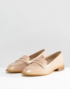 ASOS MUNCH Loafer Flat Shoes - Beige #loafersoxford