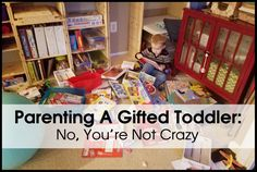 You're frazzled.  Exhausted, even.  You talk to parents at mommy-and-me classes and you realize that your child is doing things developmentally far beyond what their kids are doing.  You say …