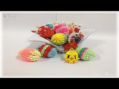 How to make 3D Origami Easter Basket part 2 - YouTube