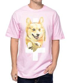Flying Coffin Hell Hound Pink T-Shirt