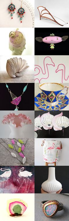 Basically Pink, White and Blue by Sheru on Etsy--Pinned with TreasuryPin.com