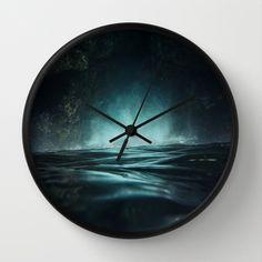 Surreal Sea Wall Clock #waterscape #ocean #art #surreal #sea #waves #wallclock #clock
